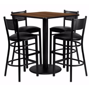 Harbaugh Square Laminate 5 Piece Pub Table Set