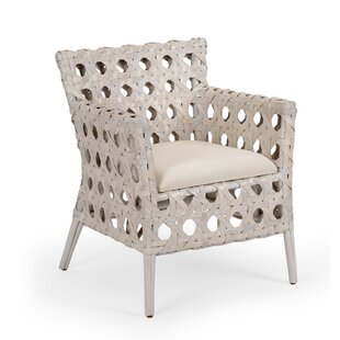 Blanco And White Rattan Bistro Chair | Wayfair