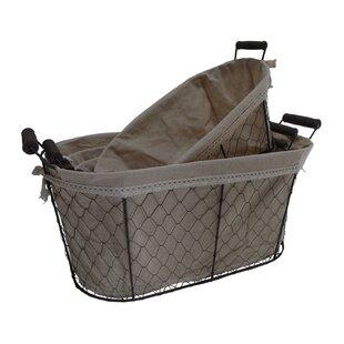 Fieldon Oval Lined Wire Basket (Set Of 4)