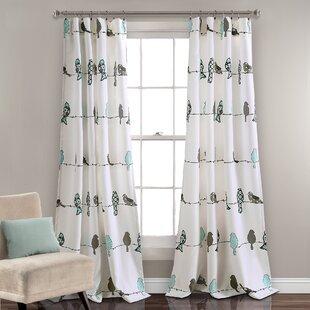 Cohla Animal Print Room Darkening Rod Pocket Curtain Panels Set Of 2