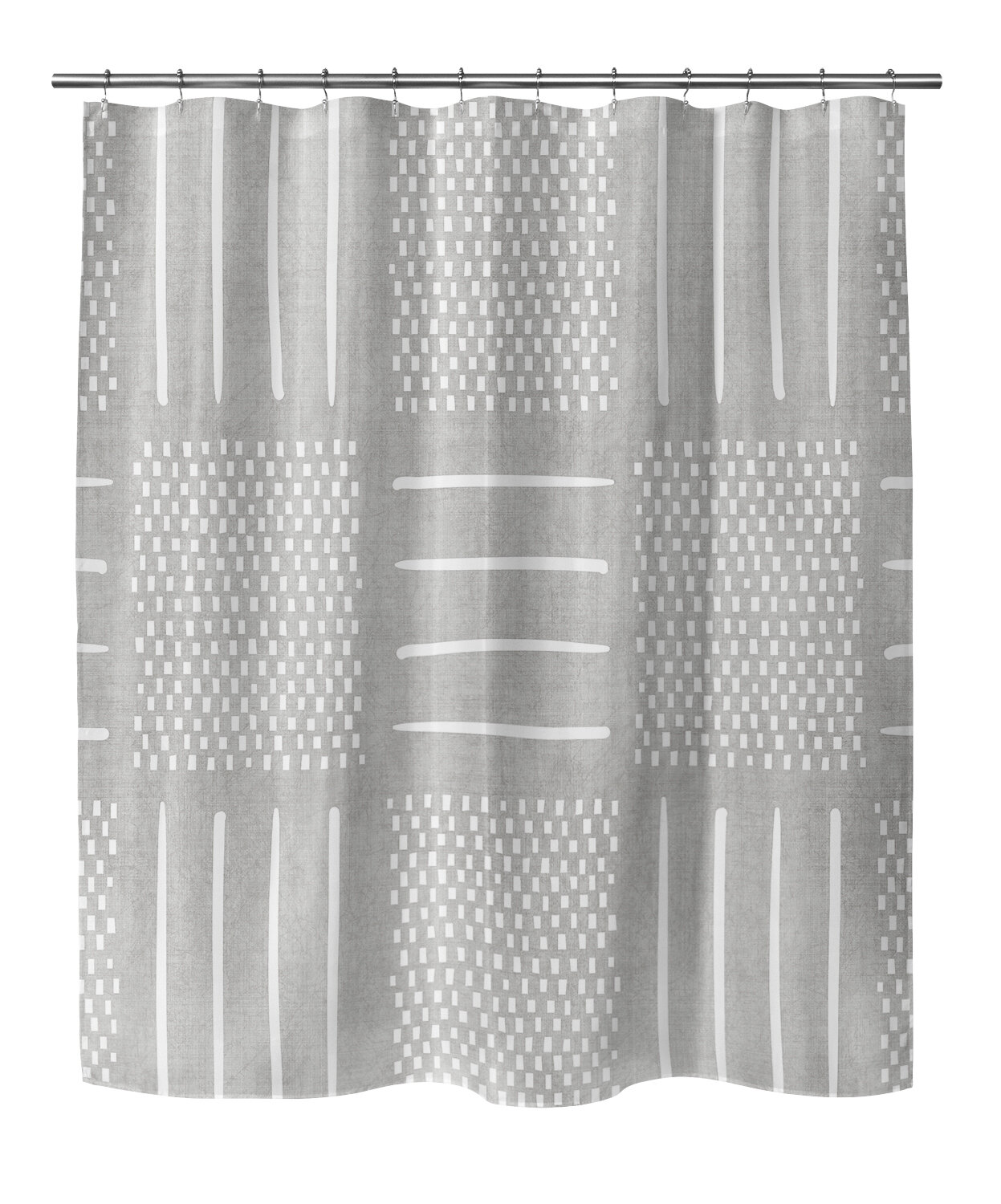 Adeline Geometric Single Shower Curtain