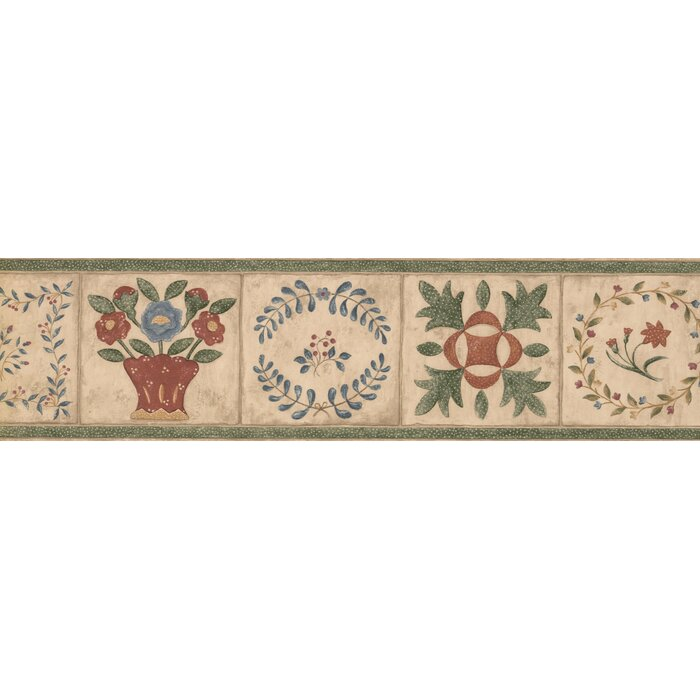 Betances Bathroom Design 15 L X 6 25 W Abstract Floral And Botanical Wallpaper Border