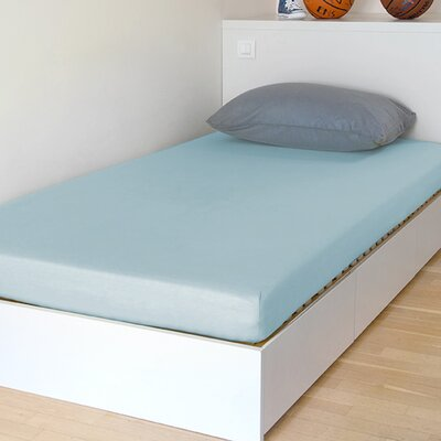 "Breathable And Waterproof Select Fitted Sheet And Protector Bsensible Size: 75"" H X 54"" W X 12"" D, Color: Blue"
