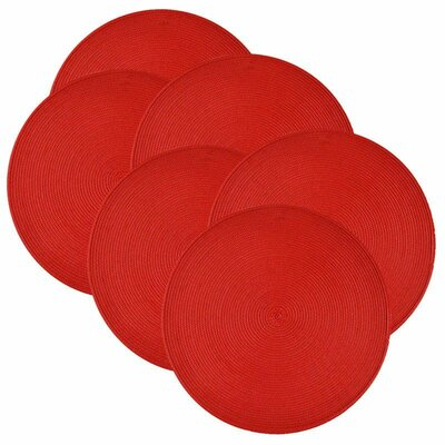 Birch Lane™ Heritage Round Braided Placemats Color: Tango Red