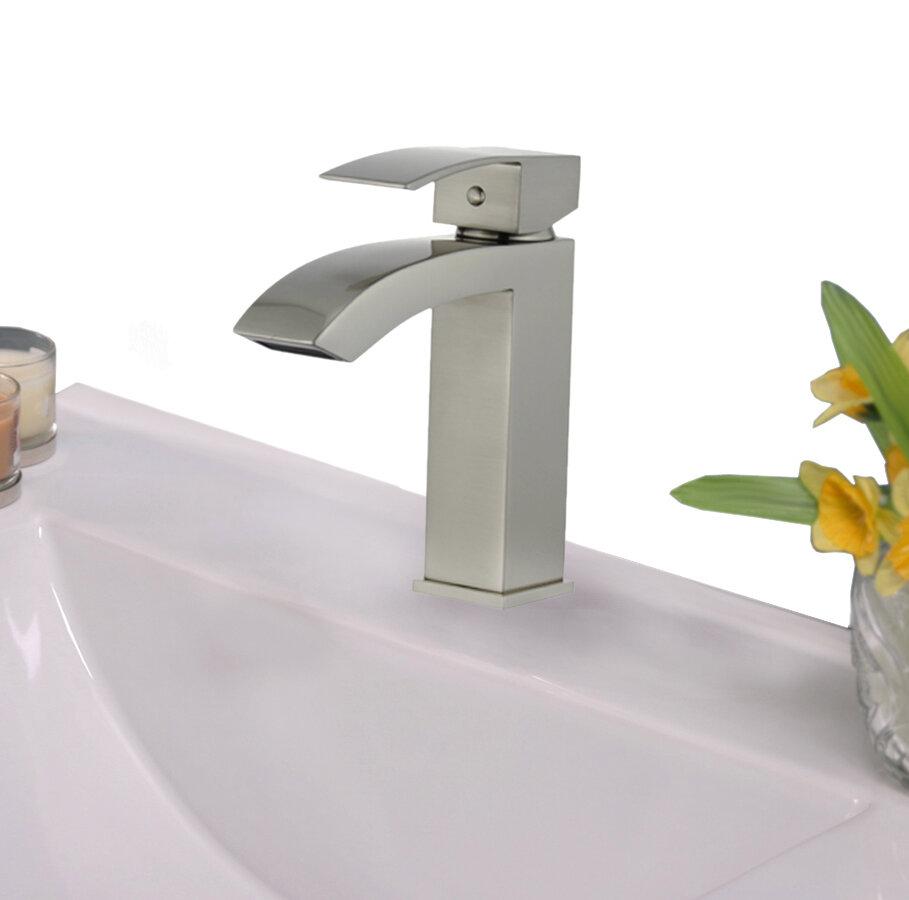 Legion Furniture UPC Single Hole Bathroom Faucet with Drain Assembly ...