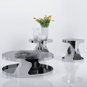 glass living room table set. Torrence 2 Pieces Coffee Table Set Glass Sets You ll Love  Wayfair