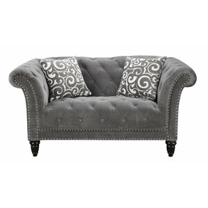 Narcisse Chesterfield Loveseat by One Allium..