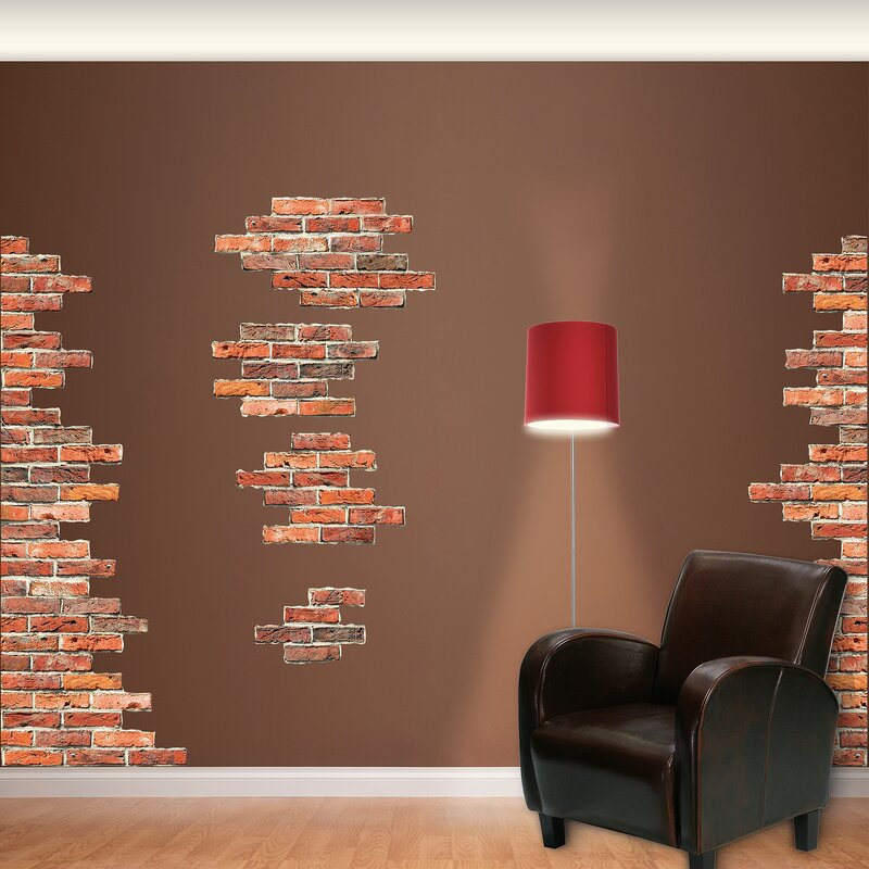 Vertical Brick Wall Accents Big Wall Decal