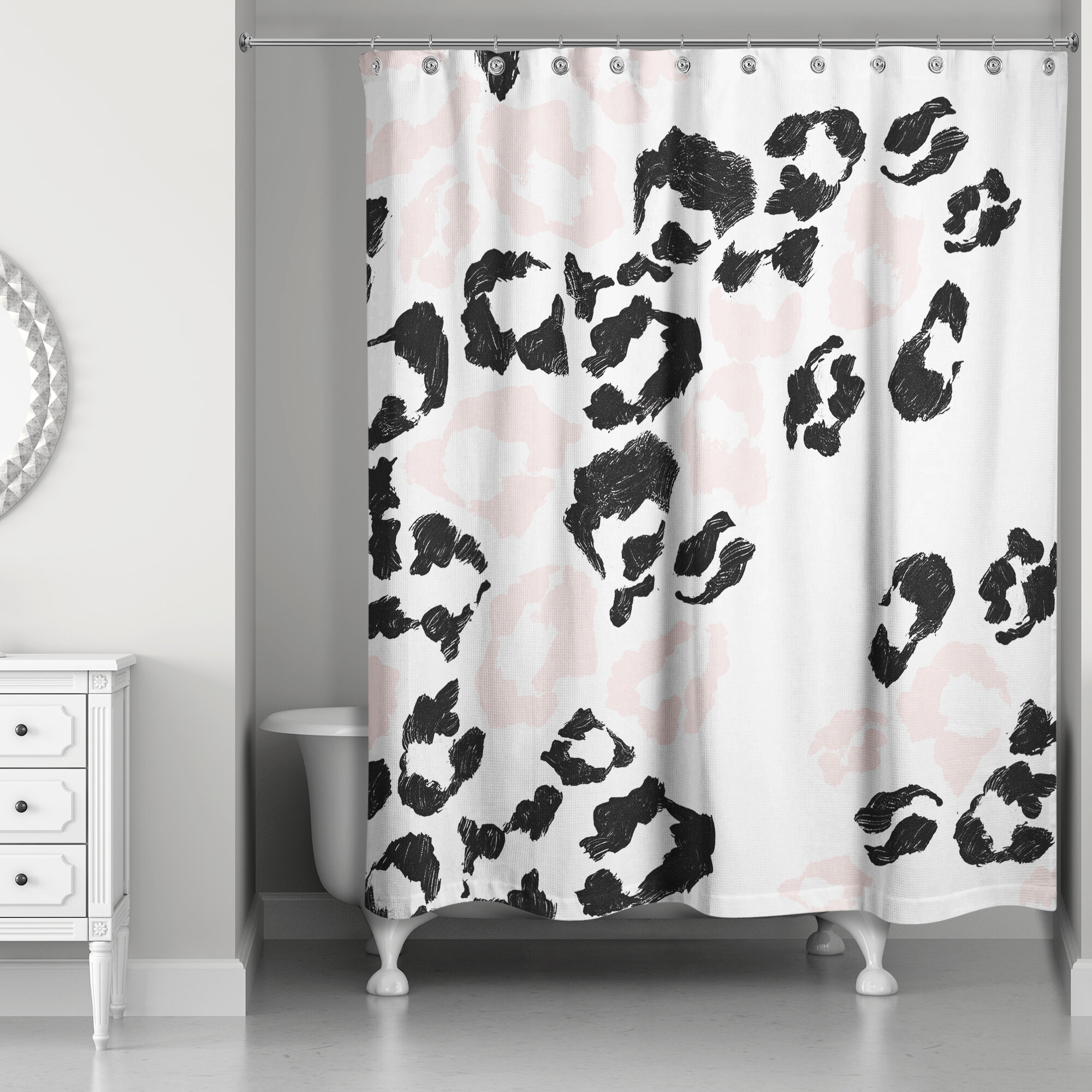 Rosdorf Park Christiana Leopard Print Shower Curtain | Wayfair