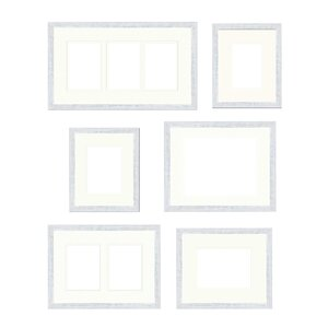 save to idea board dark brown white - White Picture Frame Set