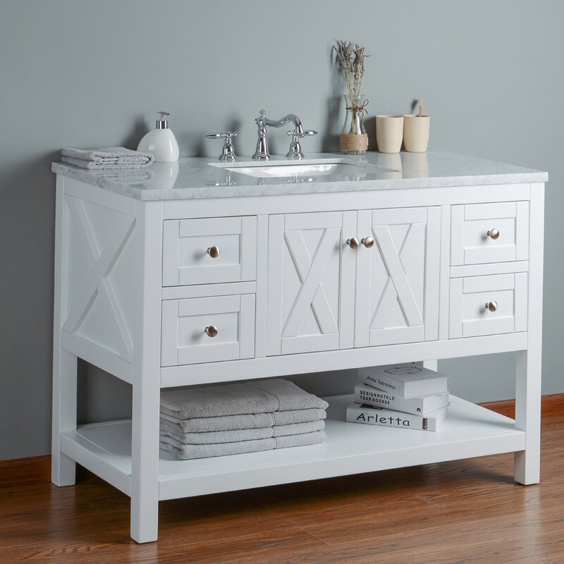 Lark manor nantes 48 single bathroom vanity set reviews wayfair nantes 48 single bathroom vanity set solutioingenieria Choice Image