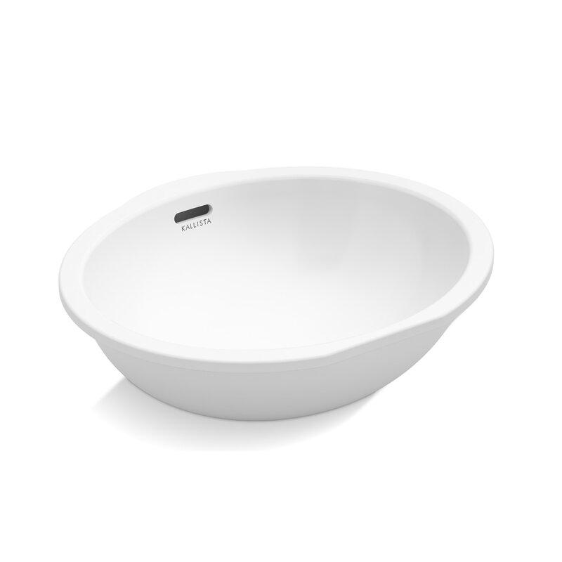 Kallista Perfect Soft Oval Undermount Bathroom Sink with Overflow ...