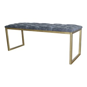 Avril Faux Leather Bench by New Pacific Direct