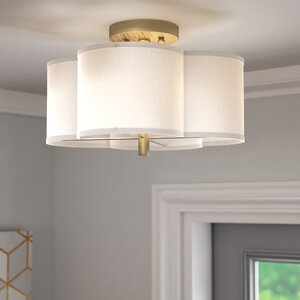 Harriett Scalloped Semi Flush Mount