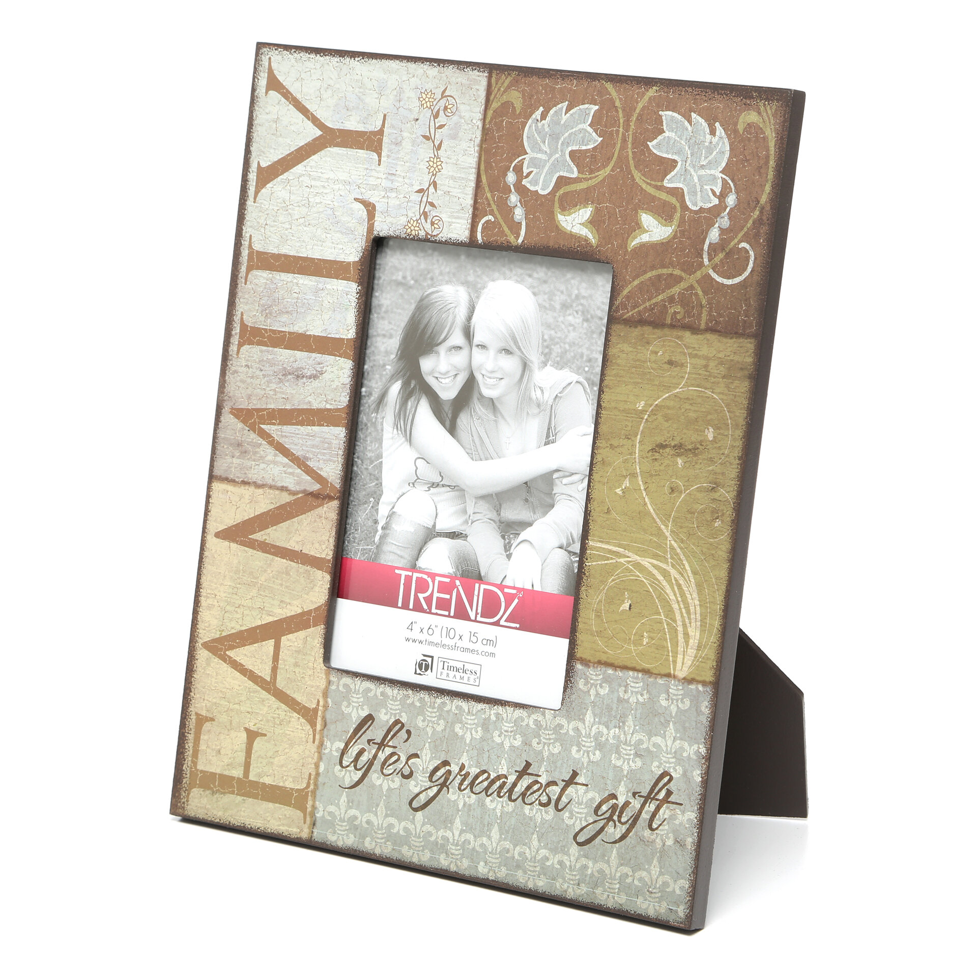 Timeless Frames Trendz Family Decoupage Tabletop Photo Frame ...