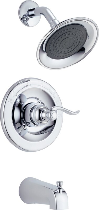 Delta Windemere Thermostatic Tub and Shower Faucet Trim with Lever