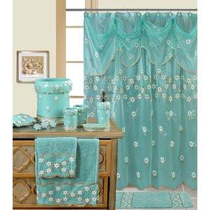 royal blue shower curtain set. Decorative Shower Curtain Blue Curtains You ll Love