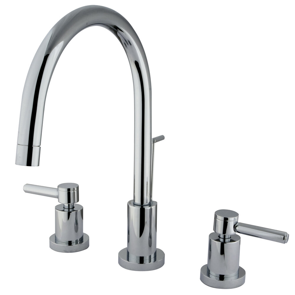 Elements of Design Concord Single Hole Widespread Bathroom Faucet ...