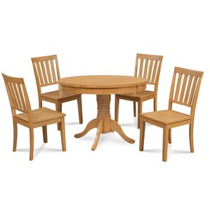 Cedarville 5 Piece Oak Dining Set by Alcott Hill