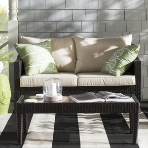 Dragoon 2 Piece Rattan Sofa Set with Cushions