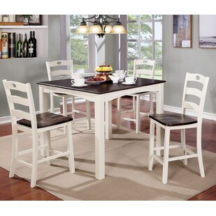 Harkins Wooden 5 Piece Counter Height Dining Table Set