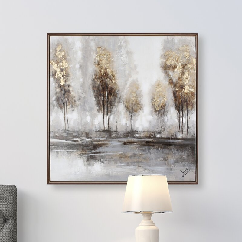 Golden Tree II\' Framed Painting Print on Wrapped Canvas & Reviews ...