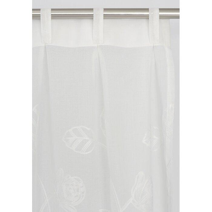 Zara Nature Floral Sheer Pinch Pleat Panel Pair