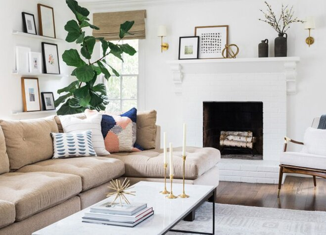 For A Bright Easy Living Room Refresh Take Inspiration From This E That Proves Few Small Swaps Can Make All The Difference