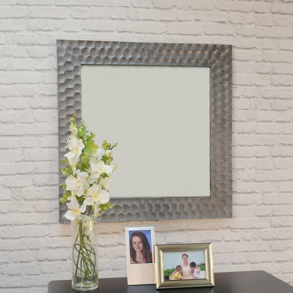 Excellent Hammered Metal Mirror | Wayfair JH89