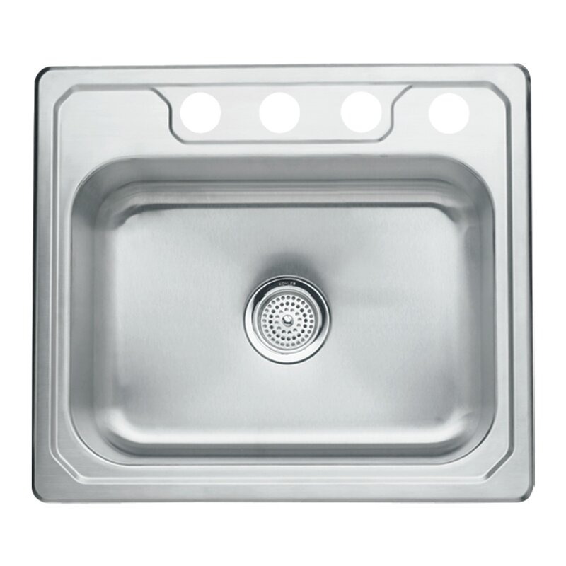 "Middleton 25"" x 22"" Self Rimming Single Bowl Kitchen Sink"