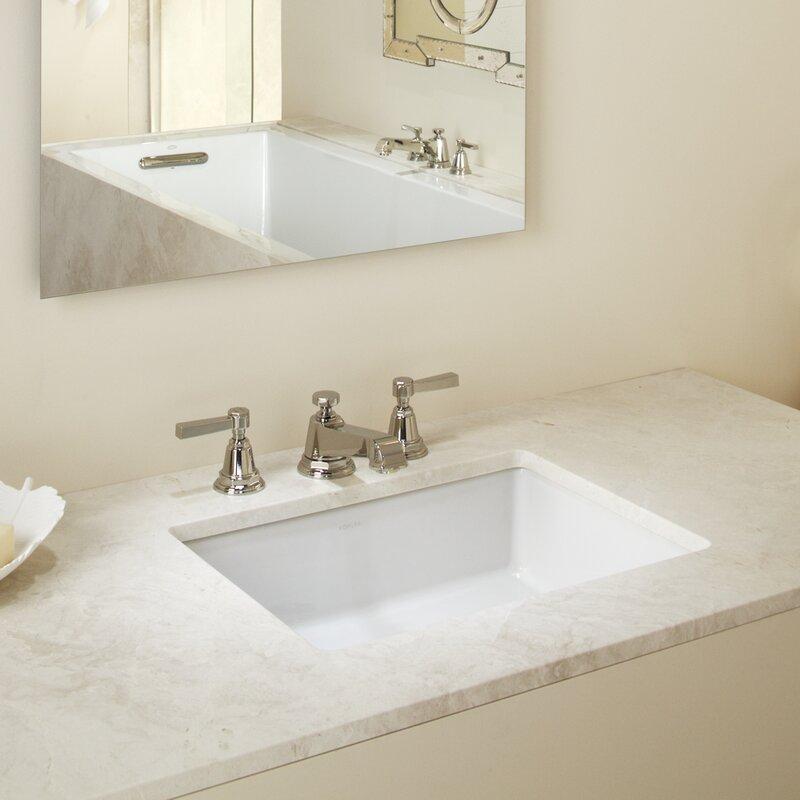 Undermount Bathroom Sink kohler verticyl rectangular undermount bathroom sink with overflow