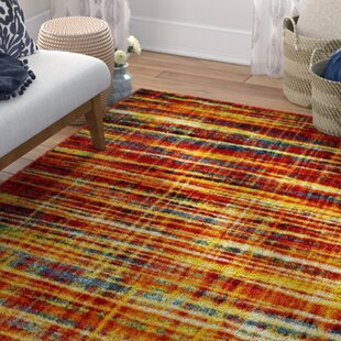 Hand Woven Orange Area Rug by House Additions