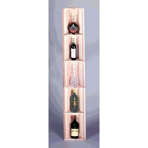 Traditional Series Redwood Triangular 5 Bottle Floor Wine Rack by Wine Cellar Innovations