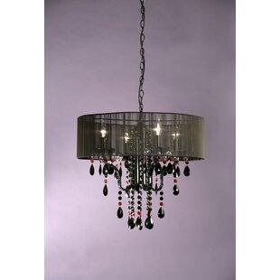 black chandelier lighting. 70cm Four Light Chandelier In Black Lighting