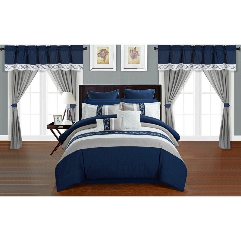 Rossett 24 Piece Bed-In-a-Bag Comforter Set