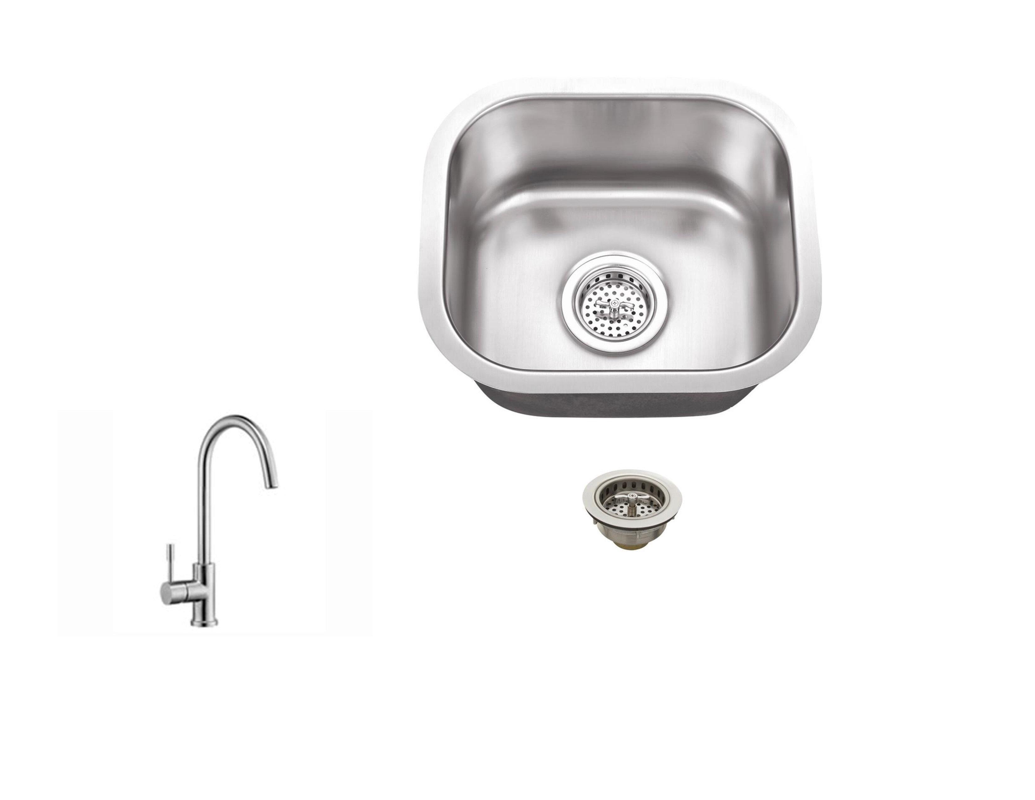 Soleil 145 L X 13 W Undermount Bar Sink With Faucet Reviews