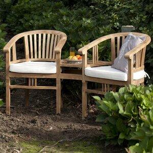 2-Sitzer Doppelbank Betawi Garden aus Teakholz von Livingstone Terrasso