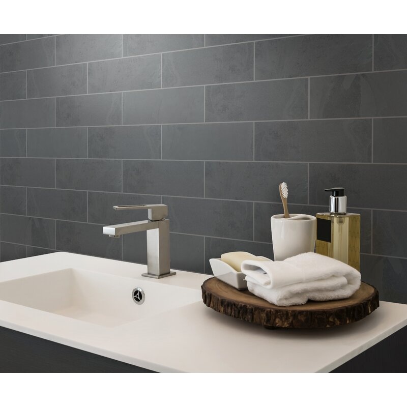 Montauk 4 X 12 Slate Subway Tile In Black Reviews Allmodern