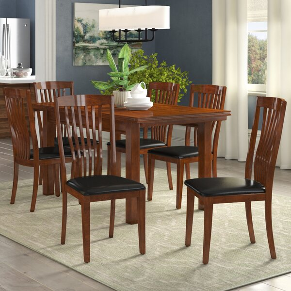 three posts remsen extendable dining set with 6 chairs