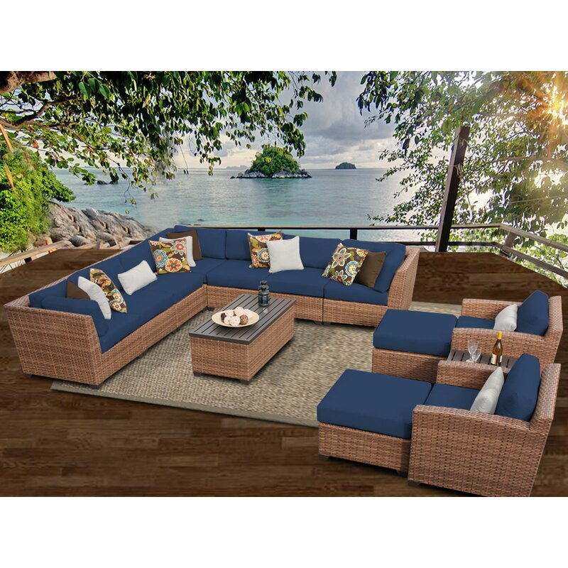 East Village 13 Piece Sectional Seating Group With Cushions