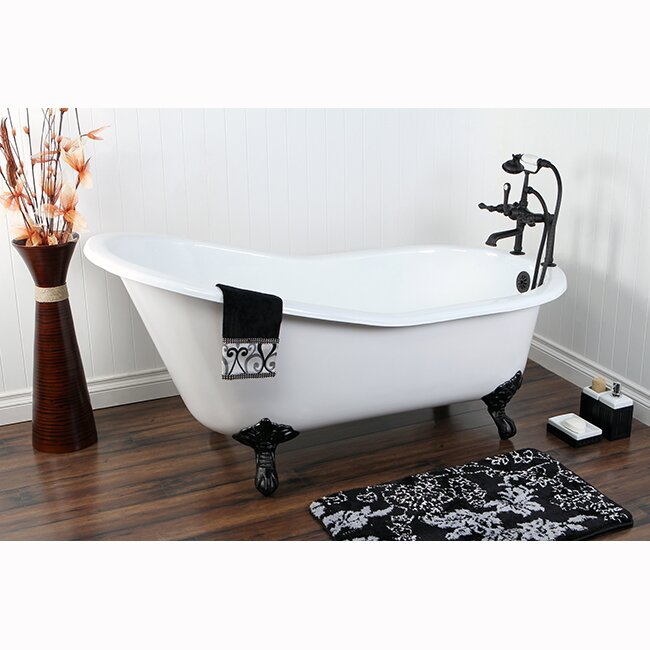 Kingston Brass Aqua Eden Soaking Bathtub Amp Reviews Wayfair