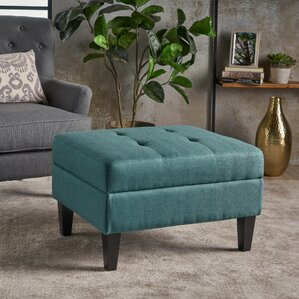 Thomasson Fabric Storage Ottoman by Alcott H..