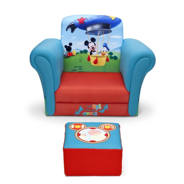Charmant Delta Children Mickey Mouse Upholstered Kids Club Chair And Ottoman U0026  Reviews | Wayfair