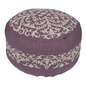 Orsini Floral Cotton Pouf Ottoman by One Allium Way