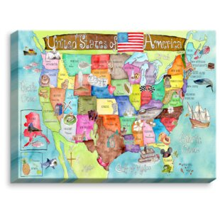 United States Map Canvas Wall Art.United States Map Wall Art Wayfair