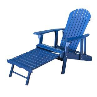Surrey Wood Adirondack Chair With Ottoman