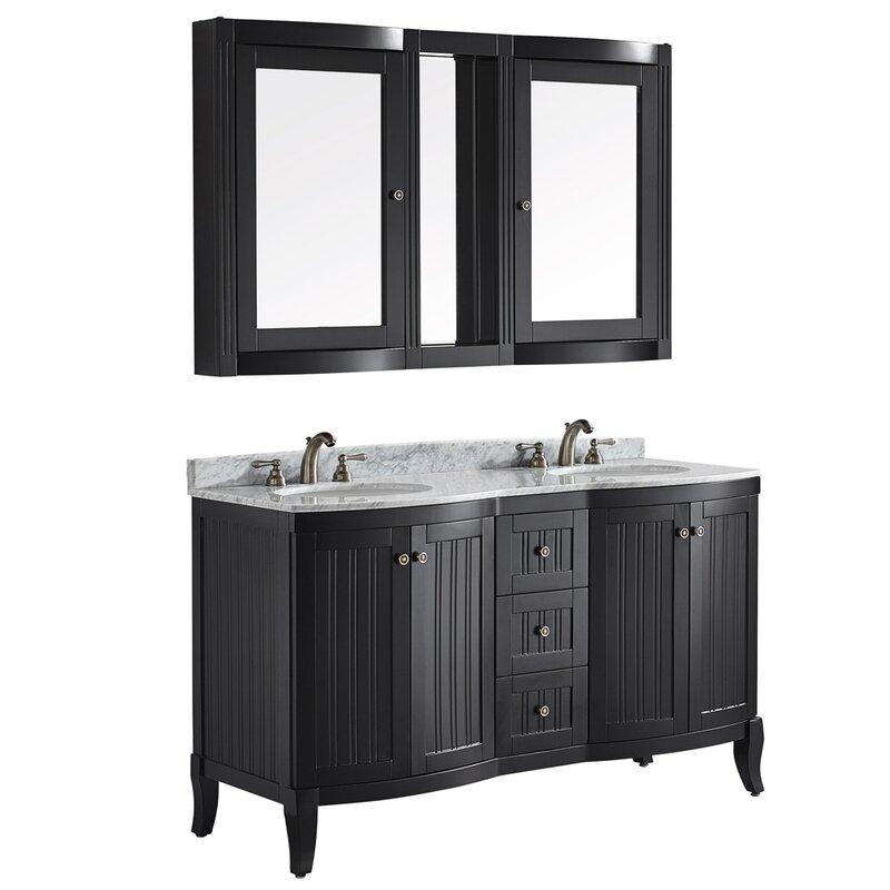 Vinnova Verona Double Vanity Set With Mirror Reviews Wayfair