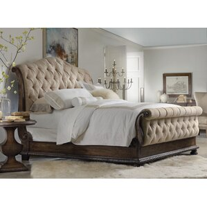 Taryn Upholstered Sleigh Bed by Hooker..