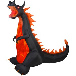 Airblown Projection Fire and Ice Dragon with Flaming Mouth Inflatable