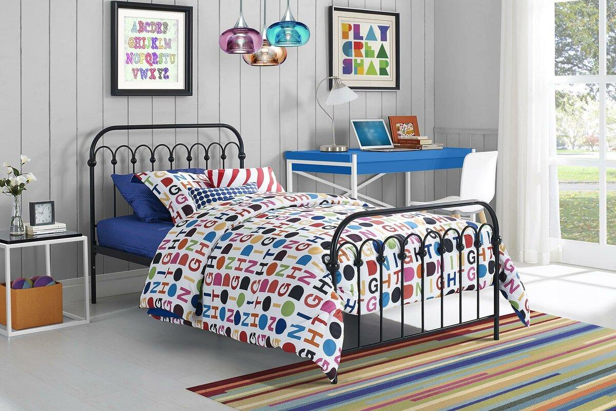 Wayfair Queen Bed Platform Wayfair Canada Queen Bed Frame: Novogratz Bright Pop Platform Bed & Reviews